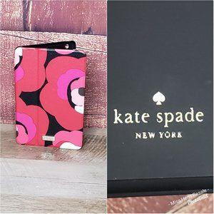 KATE SPADE NEW YORK PINK BLACK WHITE LEATHER CASE
